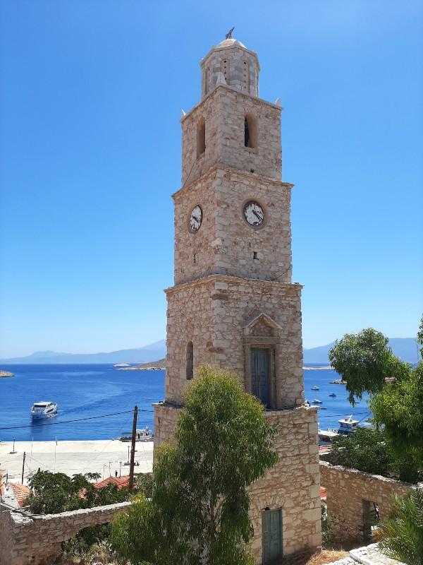 halki town clock tower