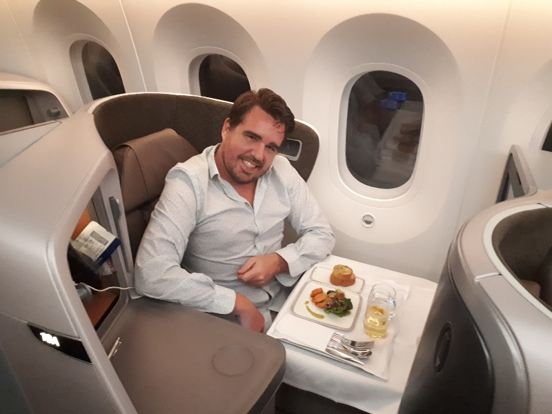 koen singapore airlines business class boeing 787