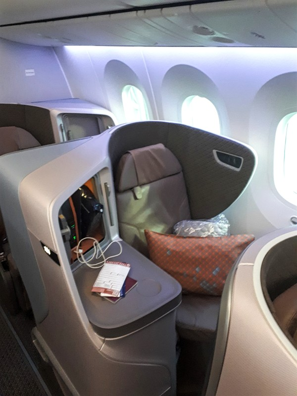 singapore airlines business class boeing 787