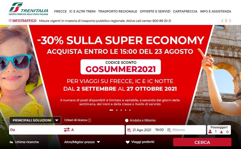 trenitalia italy train discount