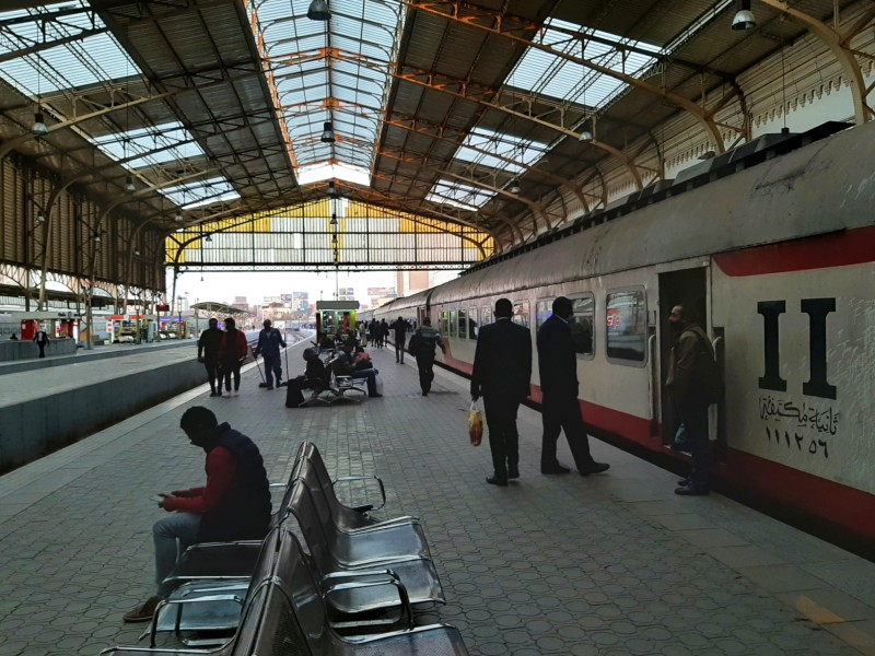 cairo ramses station spanish train egypt