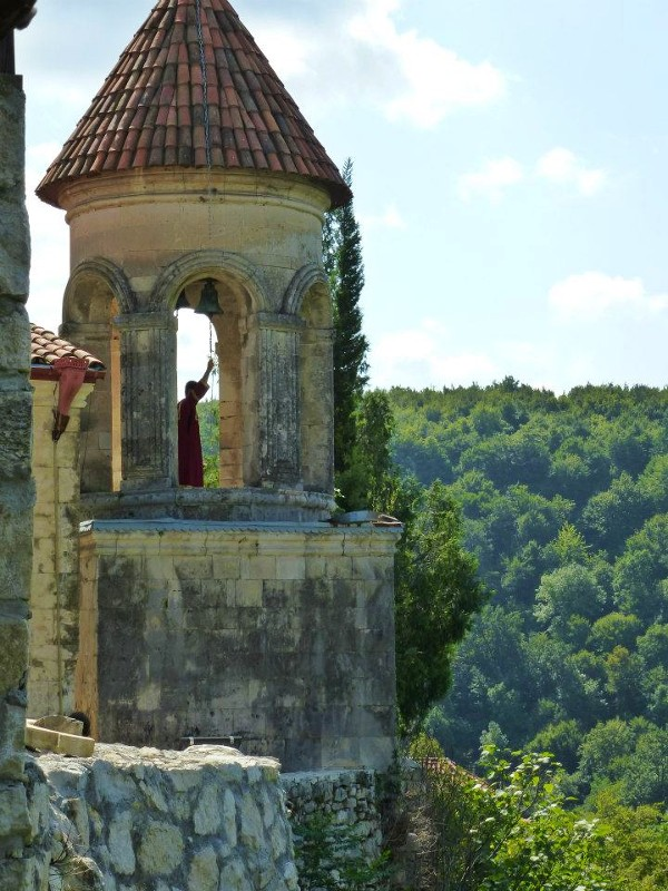 motsameta monastery monk church bell georgia