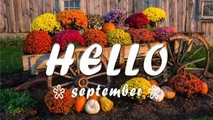 Hello September Fall Scene