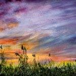 Картина «Закат на Волге»