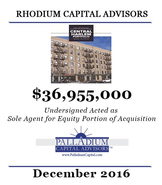 Palladium Facilitates 36955000 Acquisition of Harlem