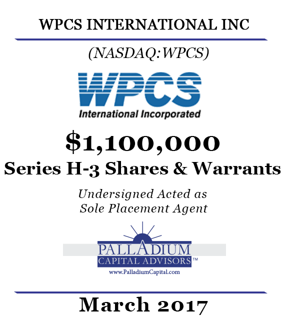 Palladium Capital Advisors Completes 1100000 Raise for
