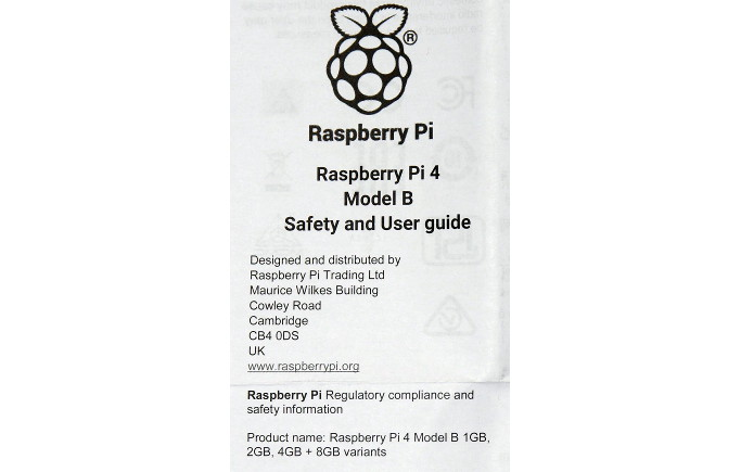 Raspberry Pi 4 with 8GB RAM and Raspberry Pi OS 2