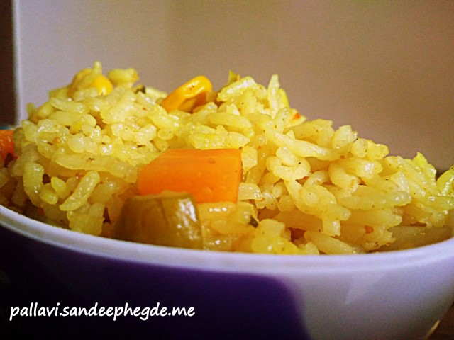 Vegetable Pulao in Pressure cooker