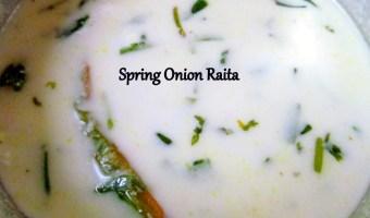 Spring Onion Raita
