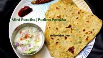 Mint-paratha for serving