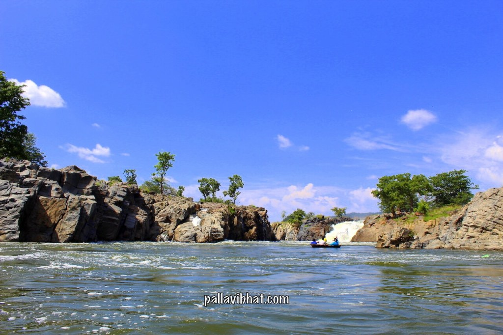Far view of Hogenakkal Falls