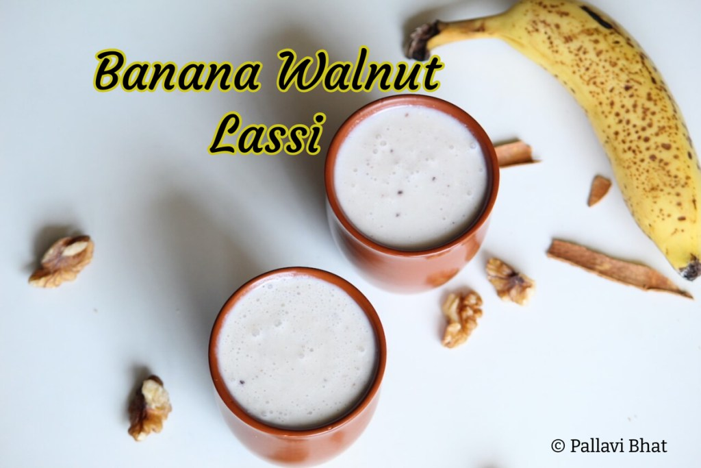 Banana Walnut Lassi