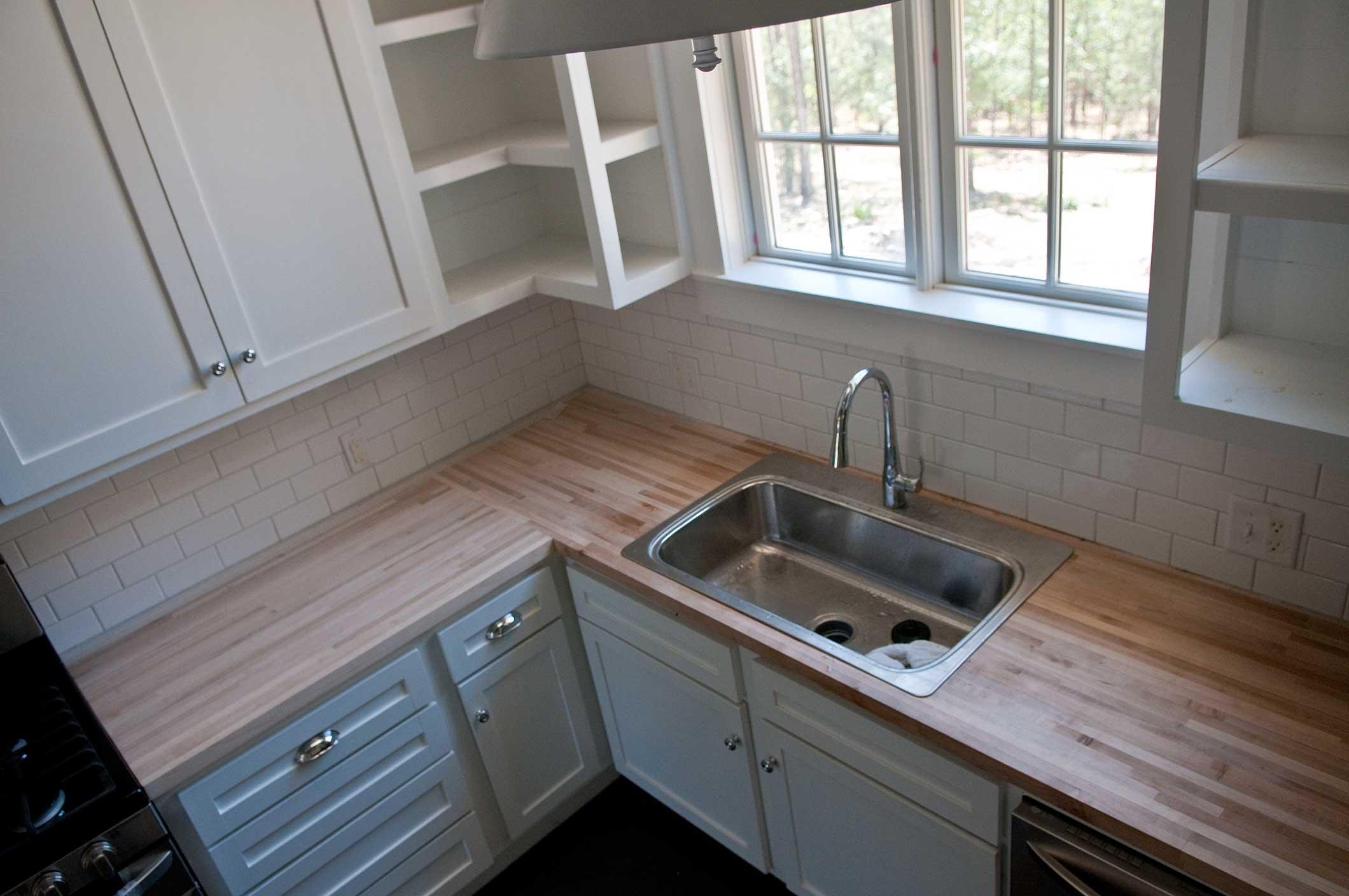 cherry wood kitchen table revive cabinets butcher block countertops – p. allen smith