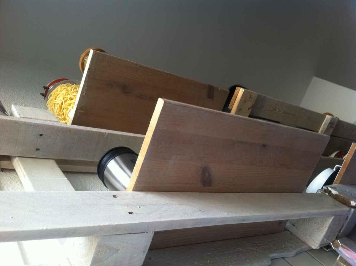 kitchen cabinet parts hardwood floors pallet shelf - diy cupboard alternative ...