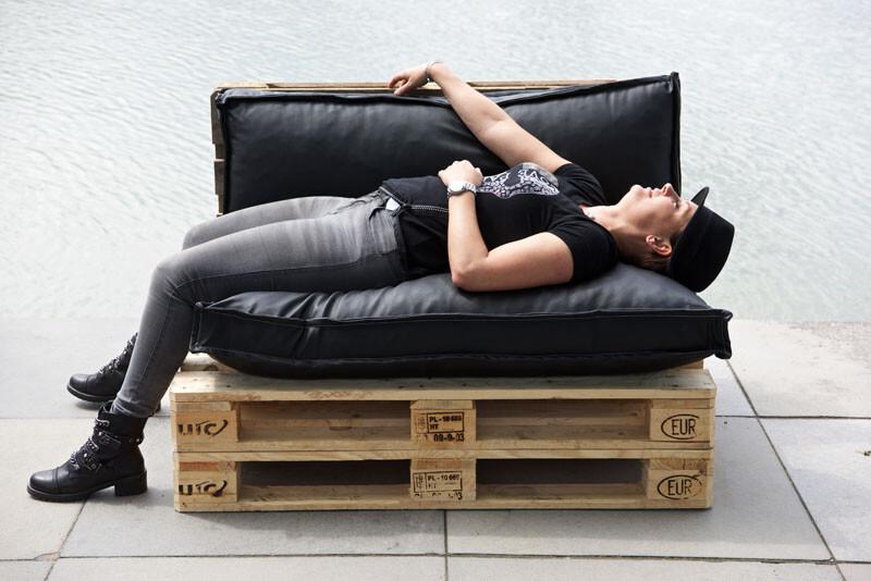 Pallet bank 2-persoons (zonder kussens)