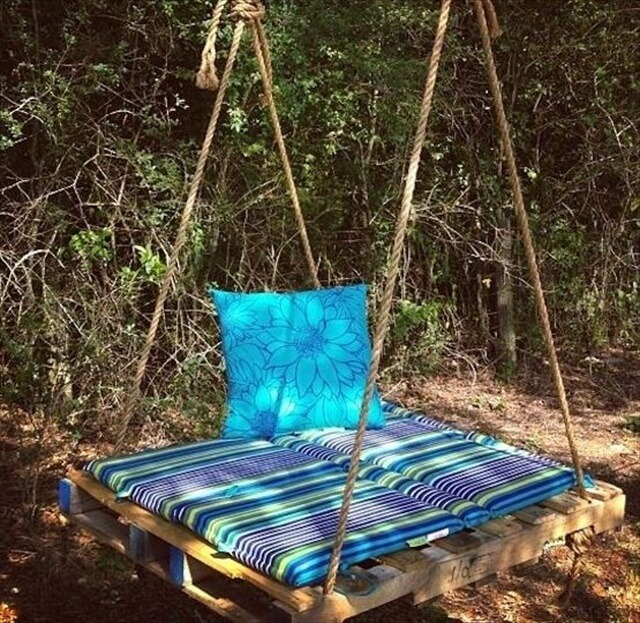 hanging tree swing chair swivel legs 33 pallet swings – chair, bed and bench seating plans | furniture diy