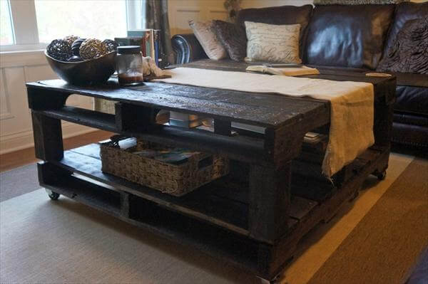 plans making a coffee table out of pallets