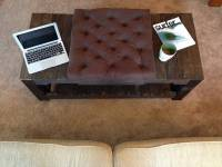 Recycled Pallet Tufted Coffee Table  Ottoman | Pallet ...
