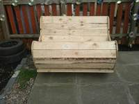 DIY Pallet and Cable Drum Rocking Chair