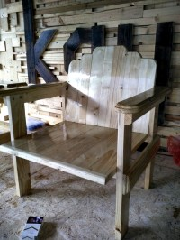 Wood Pallet Chair Idea | Pallet Furniture DIY