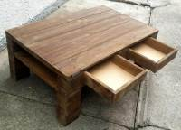 DIY Wood Pallet Coffee Table with Drawers | Pallet ...