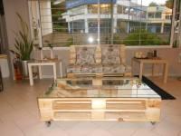 DIY Pallet Sofa, Pallet Living Room Table | Pallet ...
