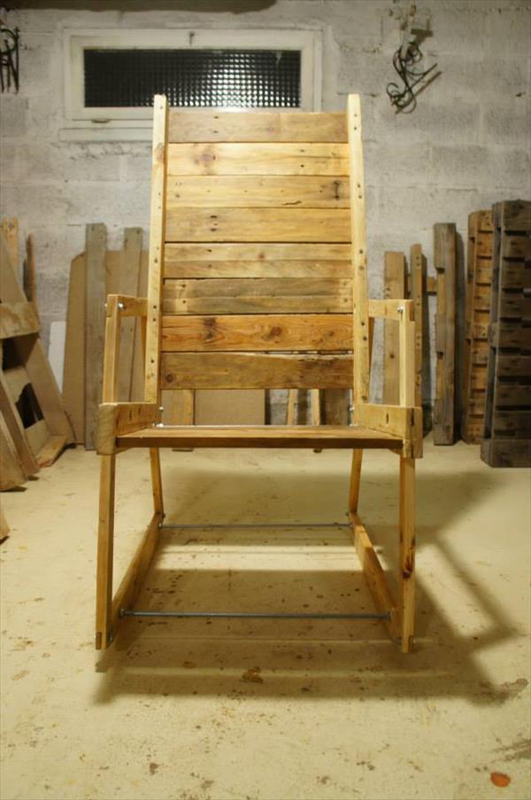 DIY Pallet Wood Rocking Chair  Pallet Furniture Plans