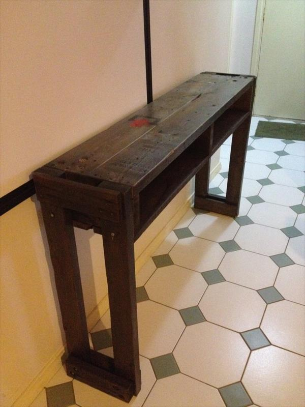 Rustic Pallet Hallway TableSide Table  Pallet Furniture