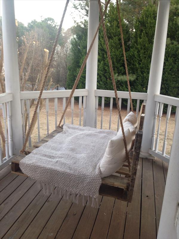 rope chair target small desk with diy pallet bed porch swing | furniture plans
