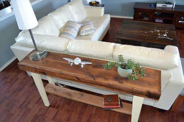 diy living room side tables african decor reclaimed wood sofa table pallet furniture plans recycled