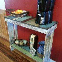 Diy Living Room Side Tables Best Colors For Walls 2017 Pallet Sofa Table Furniture Plans Reclaimed