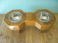 DIY Hexagonal Pallet Dog Bowl Holder | Pallet Furniture Plans