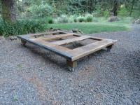 DIY Pallet Wood Platform Bed with Wheels | Pallet ...