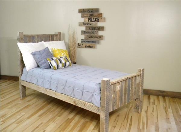 DIY Pallet Wood Platform Bed with Wheels  Pallet