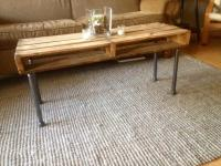DIY Metal Iron Pipe and Pallet Coffee Table | Pallet ...