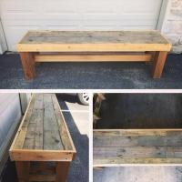 DIY Pallet Bench | Pallet Furniture Plans