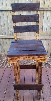 DIY Rustic Pallet Wood Chair | Pallet Furniture Plans