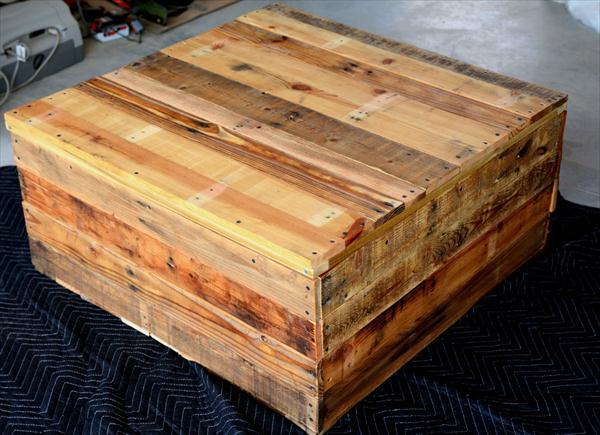 DIY Vintage Pallet Coffee Table with Secret Stash  Pallet