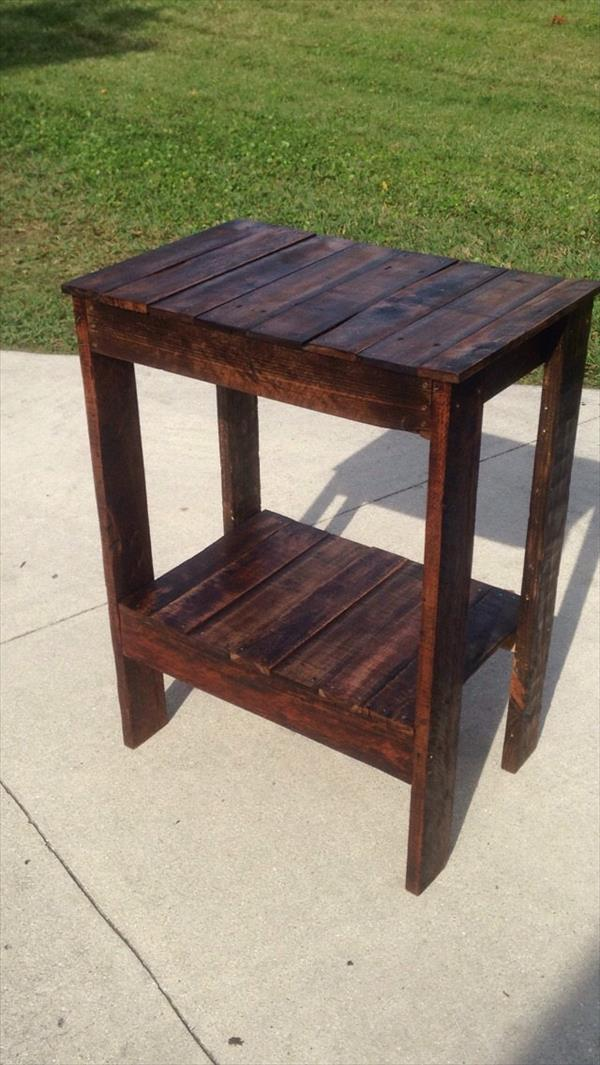Pallet End Table Entryway Table Pallet Furniture Plans