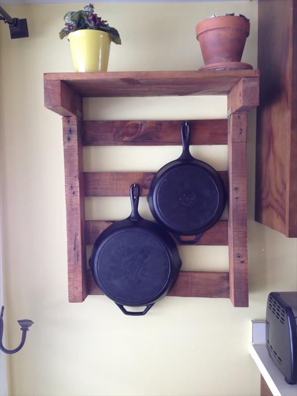 DIY Pallet Kitchen Pot Rack  Pallet Furniture Plans