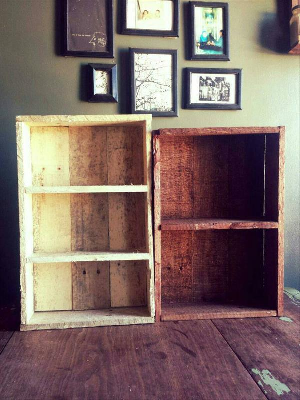 Rustic Pallet Kitchen Shelf  Spice Rack  Pallet