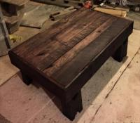 DIY Beefy Antique Pallet Coffee Table | Pallet Furniture Plans