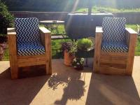 DIY Pallet Chairs for Patio - Outdoor | Pallet Furniture Plans