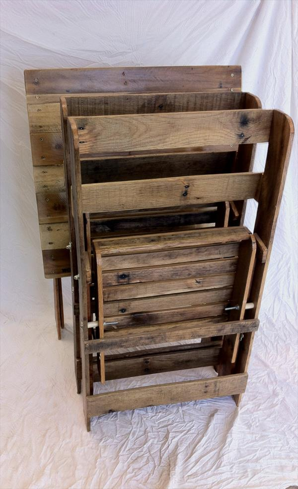 folding chair rack diy jean prouve nz pallet chairs and table | furniture plans