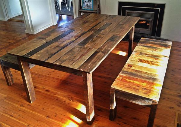 s pallet furniture pallet dining table with benches