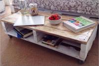 Pallet Farmhouse Styled Coffee Table | Pallet Furniture Plans