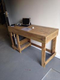 DIY Wood Pallet Office Computer Desk | Pallet Furniture Plans