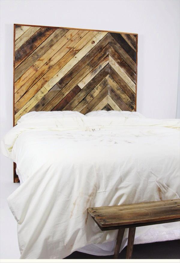 DIY Pallet King Size Headboard  Pallet Furniture Plans