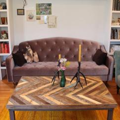 Diy Patio Sofa Plans World Reviews Pallet Chevron Pattern Coffee Table | Furniture ...