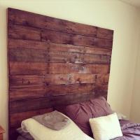 DIY Wood Pallet King Size Headboard   Pallet Furniture Plans